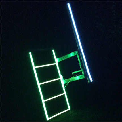 Stege med BRIGHTband ljusband