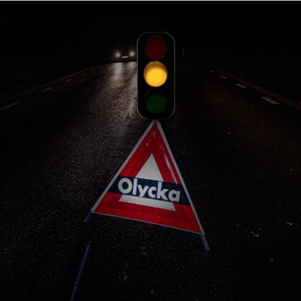 TR Aktiva varningstält, gult trafikljus