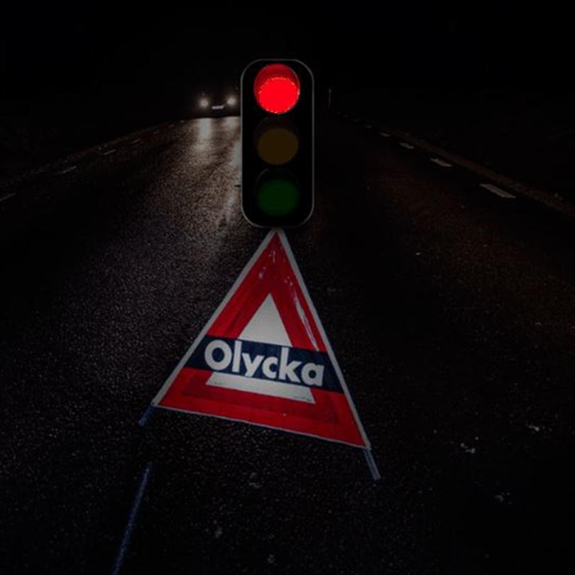 TR Aktiva varningstält, rött trafikljus