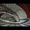 Forssellstrappan rund trappa, bärande kupa