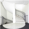 Forssellstrappan rund trappa, bärande spindelpelare