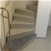 Forssellstrappan svängd trappa, bärande spindelpelare