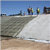 Incomat betongmadrass under påfylling