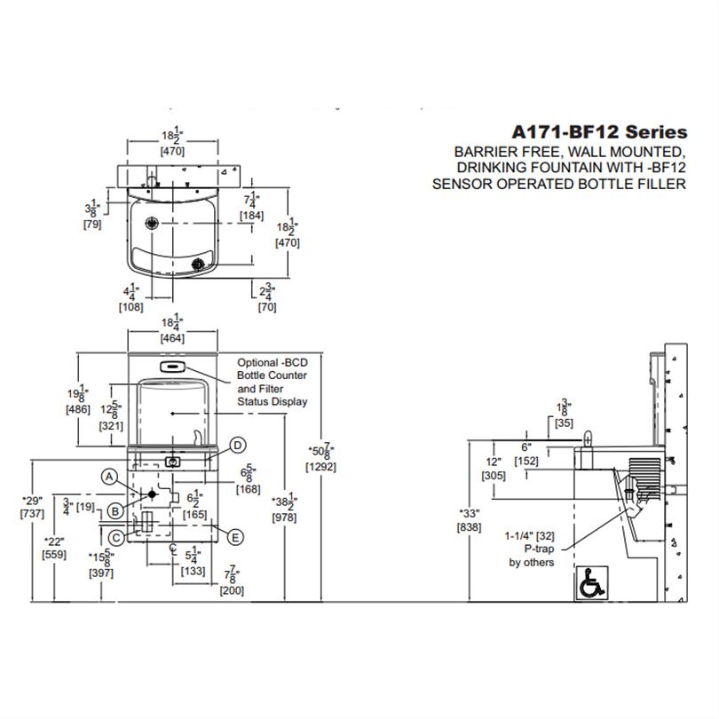 Modell A171BF12 kyld dricksfontän