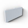 Panelradiator med runda hörn, robust toppgaller