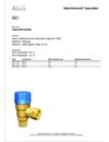 Altech Beskrivningstext Säkerhetsventiler, Tappvatten