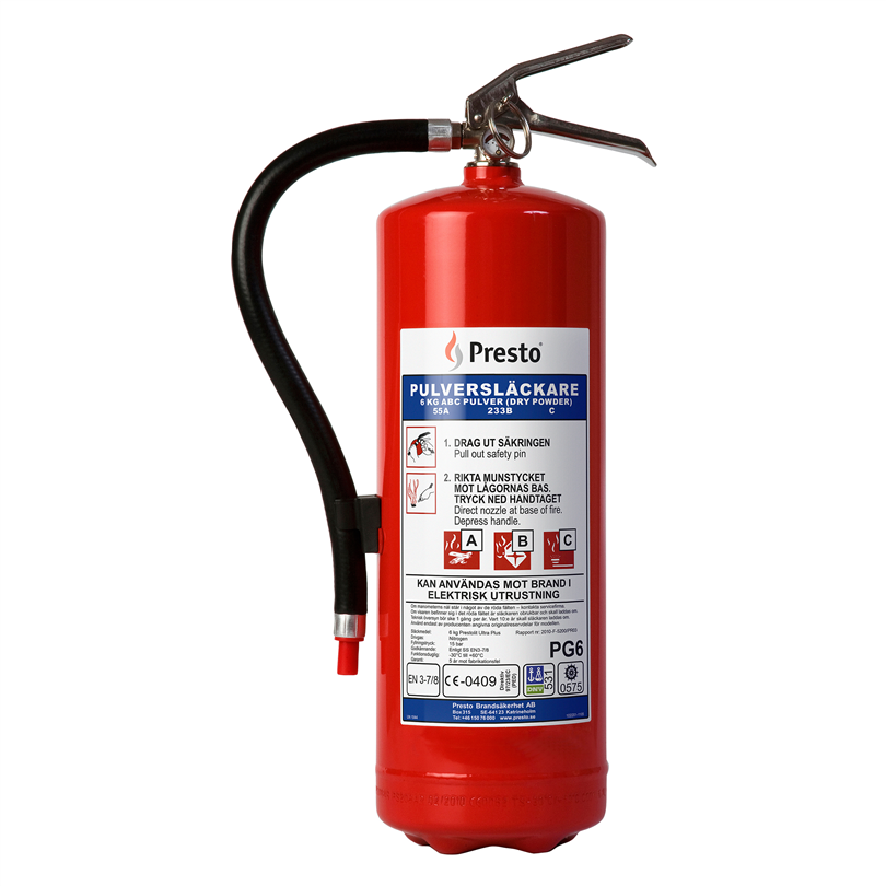 Presto Brandsläckare röd