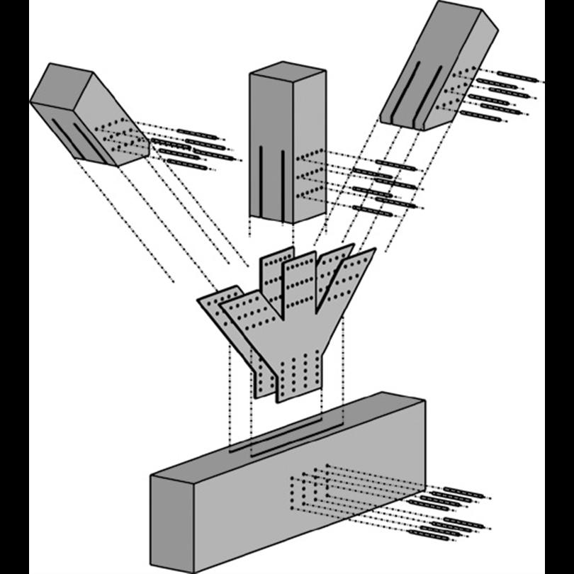 System WS - Sammanfogning av stålförstärkt knutpunkt