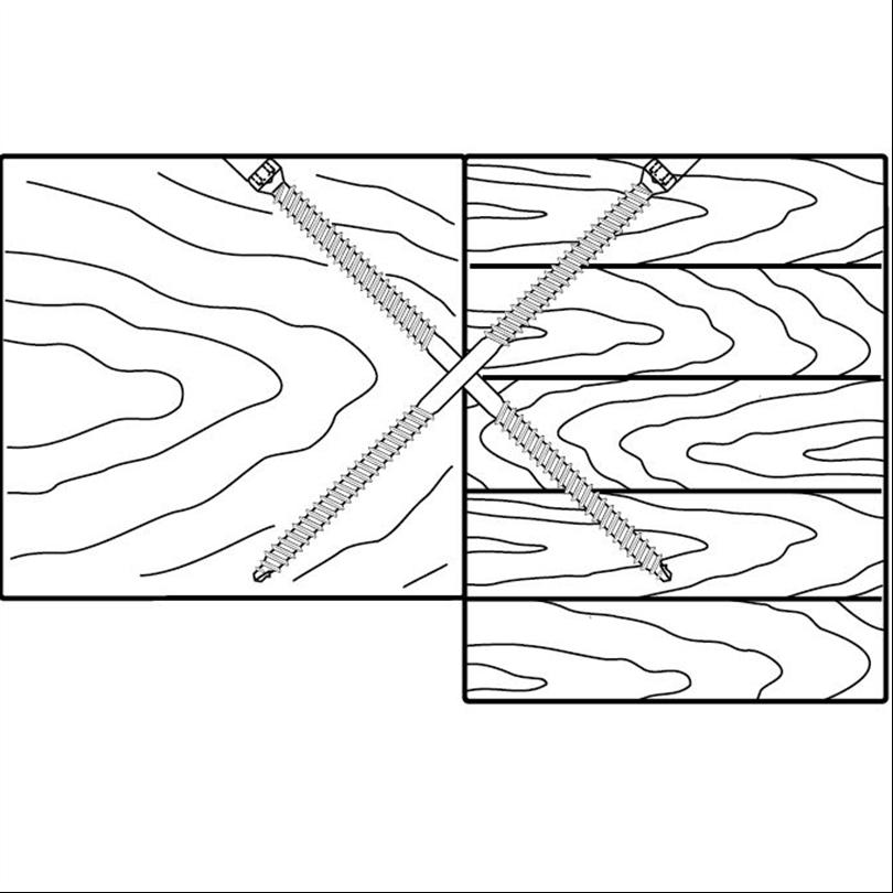 System WT - Infästning av träbjälklag till upplag av limträ