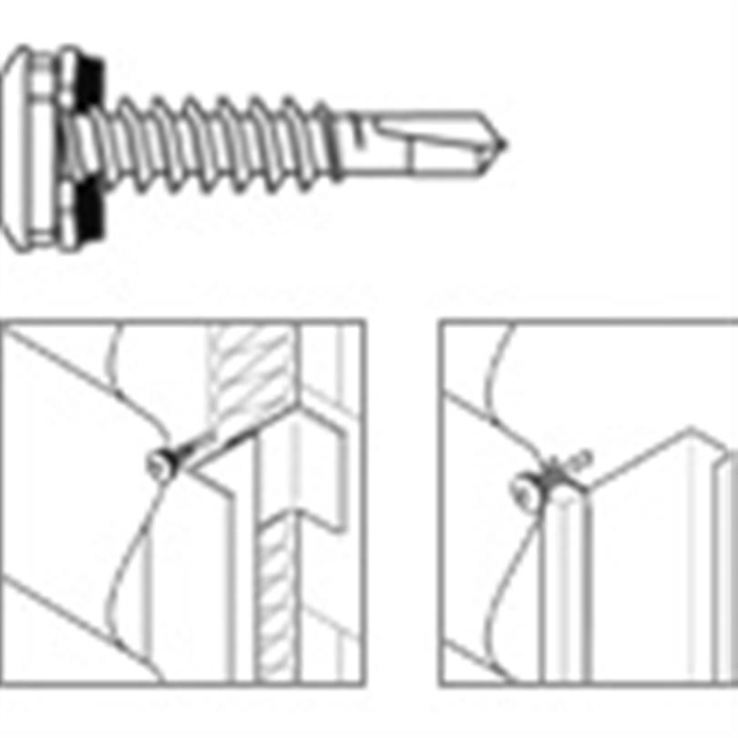 SFS Borrande skruv för aluminium - SX