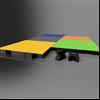 ECOSAFE² fallskyddsplattor med kombinerade färger