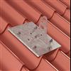 Weland infästningsplåt för plåttak, tegelprofil