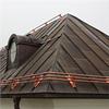Nock-/takfotsräcke av koppar med 3 kopparrör