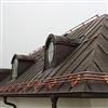 Weland nock-/takfotsräcke av koppar med 3 kopparrör