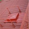 Skyddsräcke på tak, rödlackerat