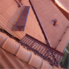 Weland Stål tegelröda gångbryggor på tak