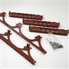 Weland universaltakstege, rödlackerade komponenter