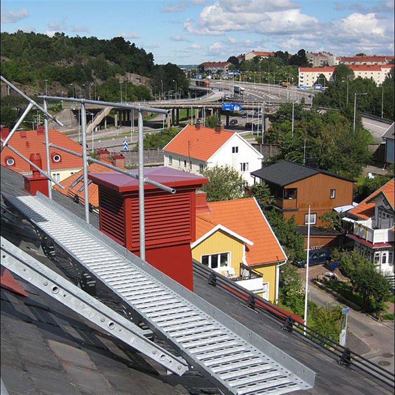Räcke för takbrygga