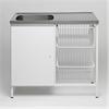 Contura CAB 10 tvättbänk med 3 trådkorgar