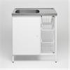 Contura CAB 8 tvättbänk med 3 trådkorgar
