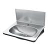 Contura RM6 tvättställ av rostfritt stål med stänkplåt