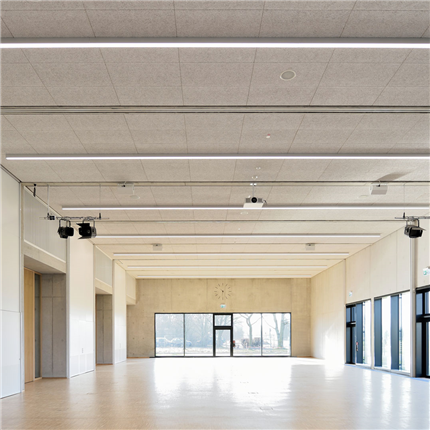 Troldtekt A2 akustikplattor, Mehrzweckhalle Neustadt
