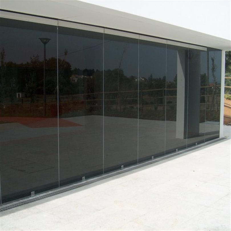 Deson Stock Glas skjutdörrar av glas utomhus