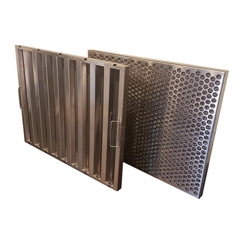 Dubbel metallfilter för ventilationer