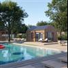 Woodworks Attefallshus/poolhus Välbehag, 25 kvm