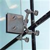 UpGlaze VidaPoint rörligt glassystem med rod-stomme på glasfena