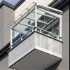 Sakkes balkongtak av skyddsglas