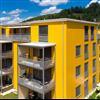 Rockpanel Colours fasadskivor i gula nyanser på fasad