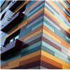 Rockpanel Colours fasadskivor i olika kulörer på fasad