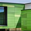 Rockpanel Colours fasadskivor i olika gröna nyanser