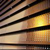 Rockpanel Metallic perforerade fasadskivor, Guld