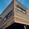 Rockpanel Woods fasadskivor i olika träeffekter
