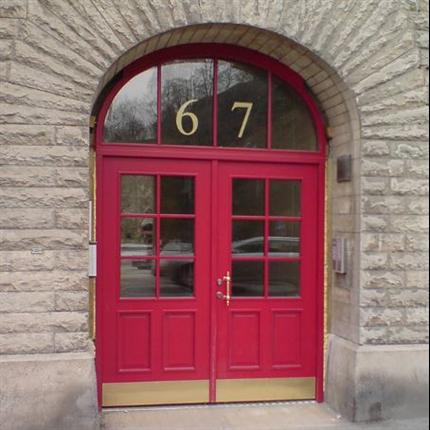 Dörr & Portbolaget Entréparti röd