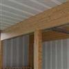 Tak och vägg med inbyggda akustikpaneler