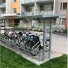 KNM cykelparkering/-tak Gävle, cykelställ med låsbyglar