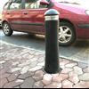KNM gummipollare Standard LED vid trottoar
