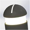 KNM Gummipollare, LED med taktilt mönster