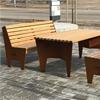 KNM Parken parksoffor och -bord av Corten och sibirisk lärk