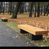 Nippon parkbänkar av stavlimmad lärk