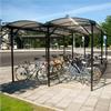 KNM cykelparkering/-tak, Enkel dubbelsidig