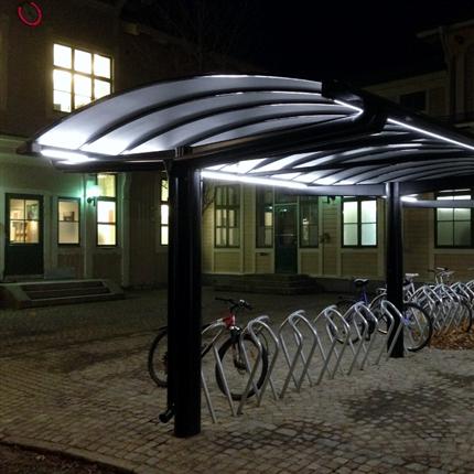 KNM cykelparkering Kolonnett med LED-belysning, Östersund C