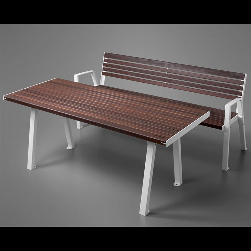 Extery Klaar wood parksoffa och parkbord