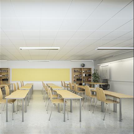 Akustiktak i klassrum, ljudabsorberande undertak