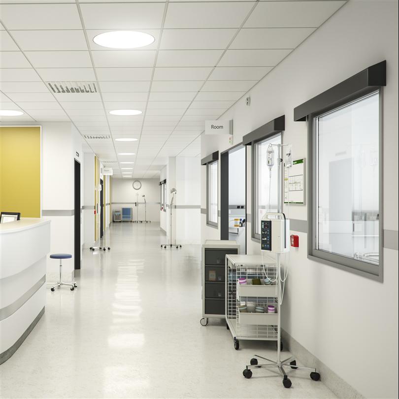 Akustiktak på sjukhus
