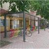 Team Tejbrant cykeltak SHARP Plaza med flerfärgade Arc