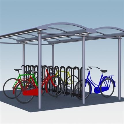 Team Tejbrant cykeltak, cykelgarage